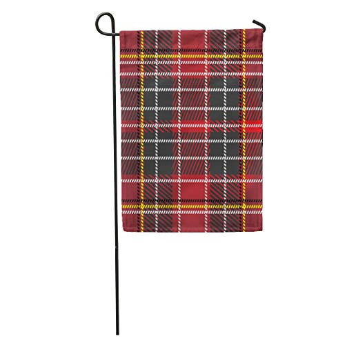 Semtomn Garden Flag Scottish Tartan Plaid Highlands Holiday Pattern Abstract Britain Celebration Celtic Home Yard House Decor Barnner Outdoor Stand 28x40 Inches Flag