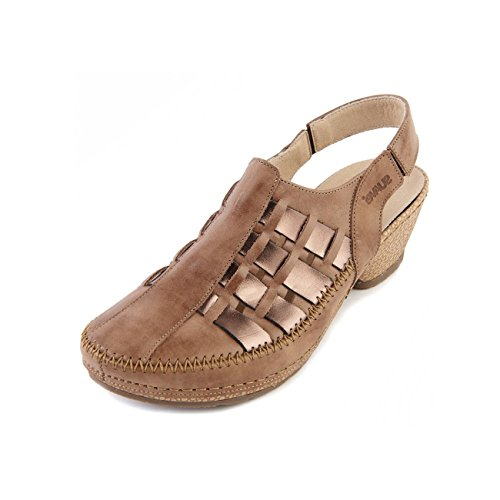 Chiusa Sandalo Leather Pelle Bark Wide Delle Corteccia Ampia Toe E Soft Sandal E Forma 'gracie' Morbida Closed Fit Punta Sandpiper Sandpiper 'gracie' In Donne Women's Sandle Sandle aqwn1SxF