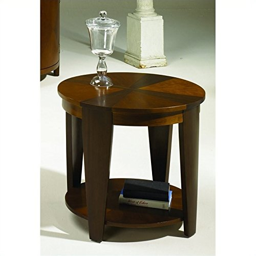 Hammary Oasis Oval End Table in Cherry/Walnut (Hammary Cherry)
