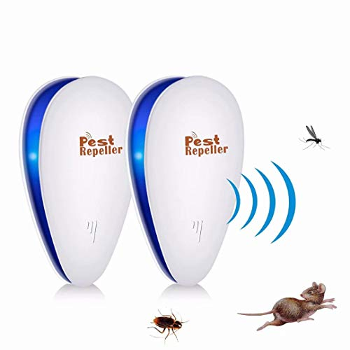 Yomitek Pest Ultrasonic Mosquito Repellent for Home Indoor-Quickly Removes Bugs Cockroaches Spiders Fleas Rats Mice Rodents Roaches Fruit Flies and More -Non-Toxic Eco-Friendly, Safe for Human & Pets(style 1)