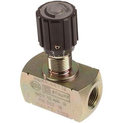 "Stauff Needle valve, 3/8"" npt ports from Stauff"