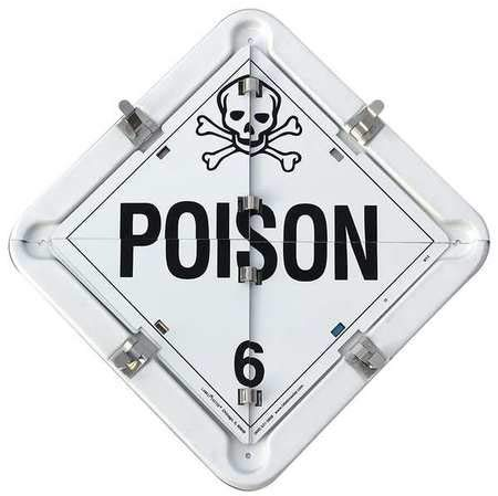 Placard, 13-1/2inx13-1/2in, Poison