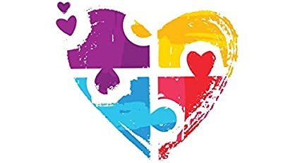 7de1436c64b Amazon.com: TWO (2) AUTISM HEART Puzzle (color Choice) Sicker Decal ...