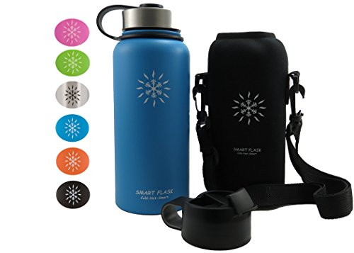Smart Flask Stainless Steel Water Bottle 32 Oz Wide