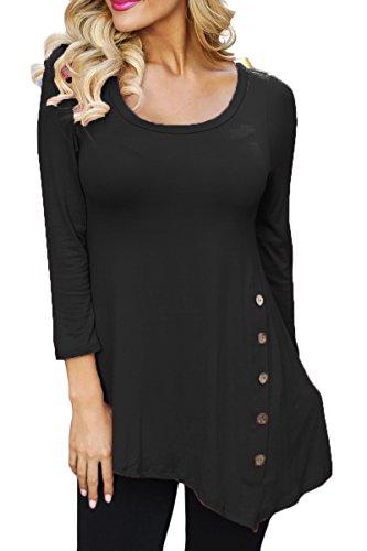 Prograce Womens Crewneck Sleeve Asymmetrical