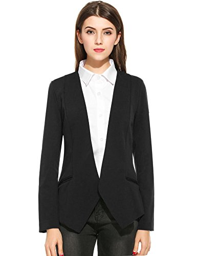 ANGVNS Casual Collar Curved Blazers