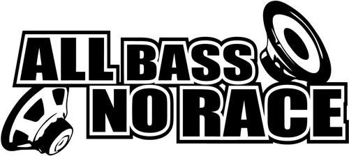 - JDM Japanese All Bass No Race Speakers REMOVABLE Vinyl Decal Sticker For Laptop Tablet Helmet Windows Wall Decor Car Truck Motorcycle - Size (5 Inch / 13 Cm Wide) - Color (Matte Black)