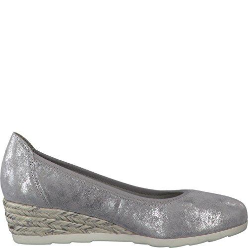 Mujeres 28 22204 212 grey 8 silver Grey De Zapatos Plata Tacón silver 8 rxvq1r7P