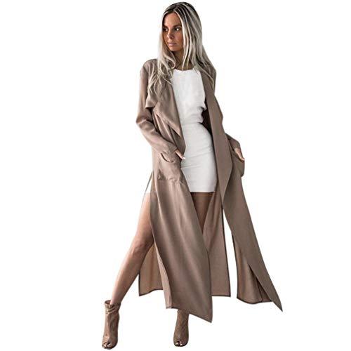GOVOW Long Coat Women Clearance Sale Ladies Long Sleeve Tops Cardigan Waterfall Jacket Outwear