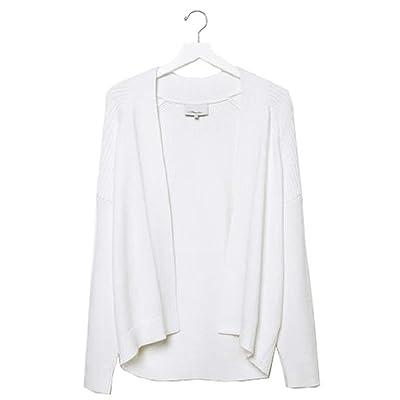 3.1 Phillip White Bias Rib Sweater Medium at Amazon Women's Clothing store