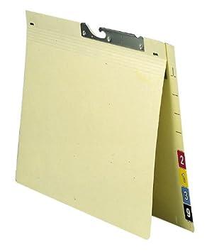 Elba 90401 - Archivador colgante (cartón resistente reciclado, 230 g/m², 2 pliegues, pestaña con numeración, 50 unidades), color beige: Amazon.es: Oficina y ...