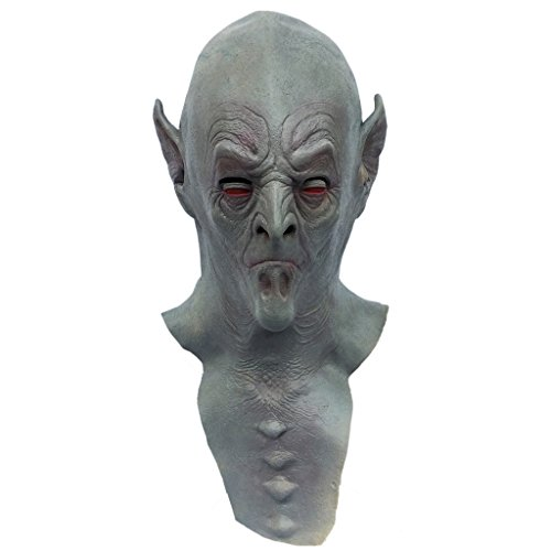 Demi Sharky Halloween Full Head Vampire Bat Mask Latex Ghost Mask Dress Costume Dracula Mask ()