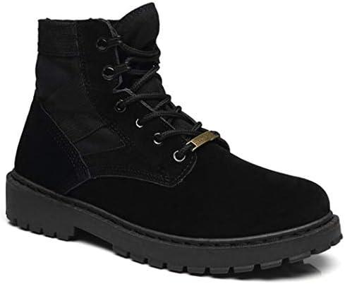 スノーブーツ メンズ ハイカット 裏起毛 シンプル 防滑 カジュアル レースアップ 幅広 選べる内側2タイプ 作業靴 安全靴 ラウンド トゥ 厚底 メンズムートンブーツ 防水 ブーツ スノーシューズ 通勤 紳士靴