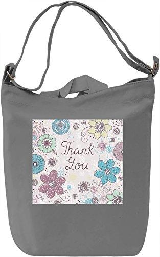 Thank you Print Borsa Giornaliera Canvas Canvas Day Bag| 100% Premium Cotton Canvas| DTG Printing|