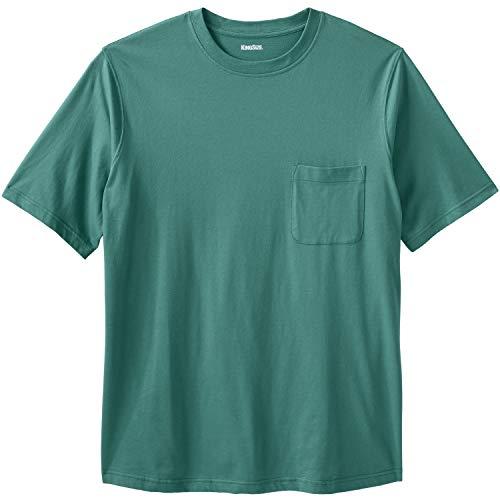 KingSize Men's Big & Tall Shrink-Less Lightweight Pocket Crewneck T-Shirt, (Tall Mens Crewneck T-shirts)
