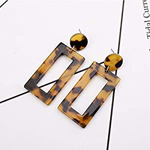 Gespout Leopard Square Creative Delicate Earrings Women Jewellery Accessories for Beach Travel Birthday Gift, Colore 1…