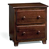 Atlantic 2 Drawer Night Stand, Antique Walnut