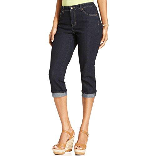 (Style & Co. Petite Jeans, Tummy-Control Cuffed Capri (Rinse, 8P))