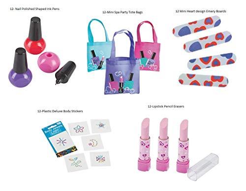 Pampered Princess Spa Party Favor Bundle for 12 (Favor Bag Spa)