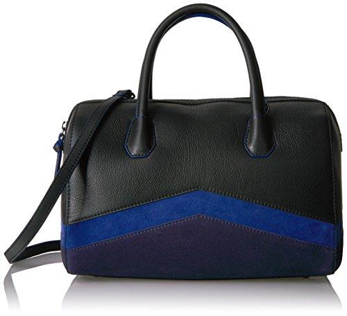 The Fix Bailee Color Block Top Handle Satchel Bag, Black by The Fix