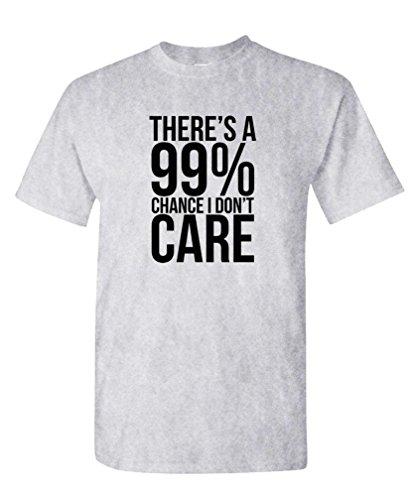 (99% Chance I Don't Care - Sarcastic Meme - Mens Cotton T-Shirt, 3XL, Sport)