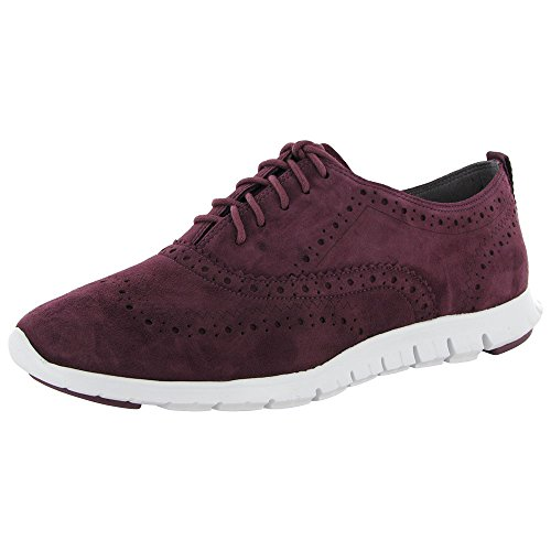 Cole Haan Women's Zerogrand Wing-Tip Oxford Tawny Port Suede / White sale wiki purchase online CPGk5wM