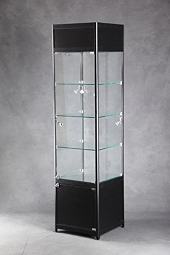 are Lighted Tower Display Case 19 3/4 W x 17 3/4 D x 78