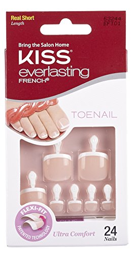 Kiss Products Everlasting French Toenail Limitless Kit, 0.07 Pound