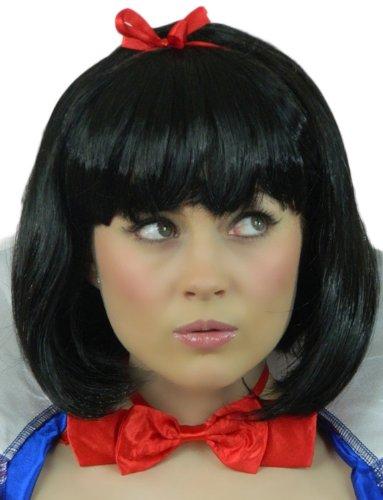 Yummy Bee Womens Fairytale Princess Costume Wig Short Black Bob Fairy Princess Short