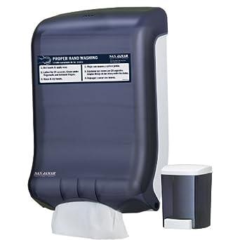 San Jamar T1730 Handwashing Station Value Pack, Black Pearl