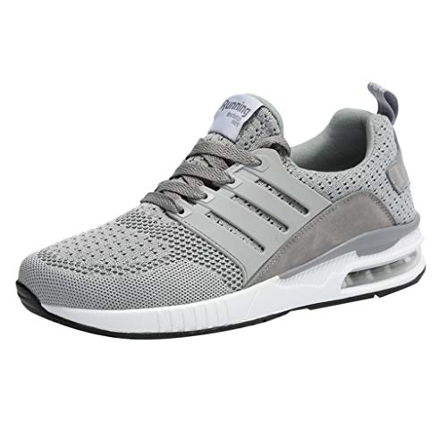 - Respctful✿Men's Fashion Athletci Sneakers Mesh Breathable Tennis Sports Flats Casual Indoor and Outdoor Shoes for Women Gray