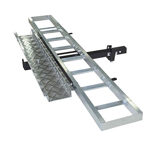 Motorcycle Car Racks - Titan 400 lb Capacity Aluminum Motorcycle Dirt Bike Carrier Ramp Fits 2