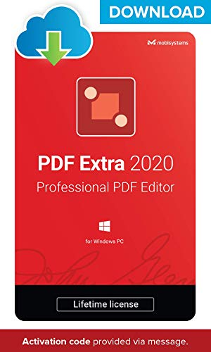 PDF Extra 2020 – DOWNLOAD/ Online License – Professional PDF Editor – Edit, Protect, Annotate, Fill and Sign PDFs – 1 PC…