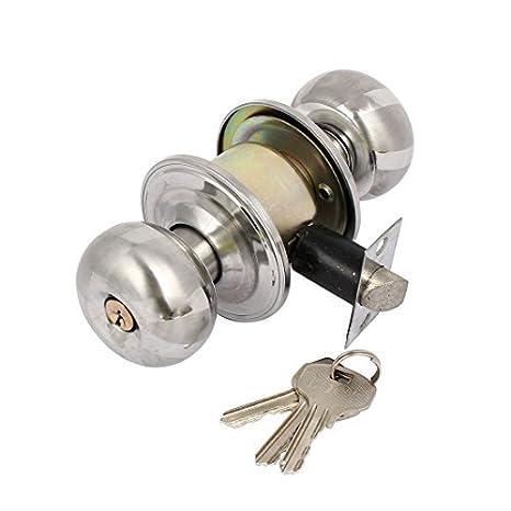 eDealMax 58 mm Diámetro bola redonda individual con llave, gire el mando de bloqueo de 30 mm-45 mm Espesor de la puerta - - Amazon.com