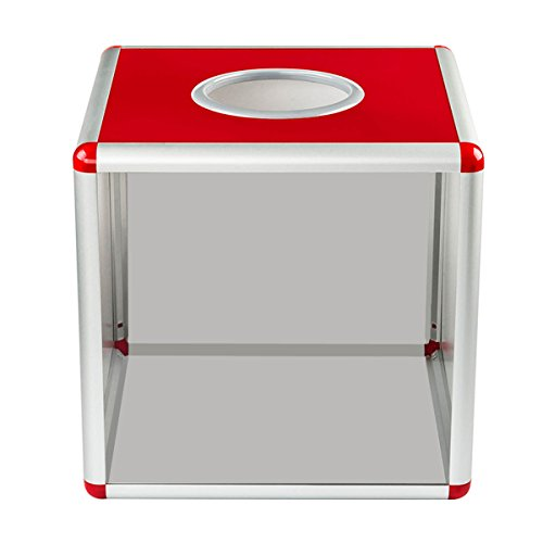Popowbe Transparent draw box ping pong box evening activities touch medallion lottery box (Tennis Medallion)