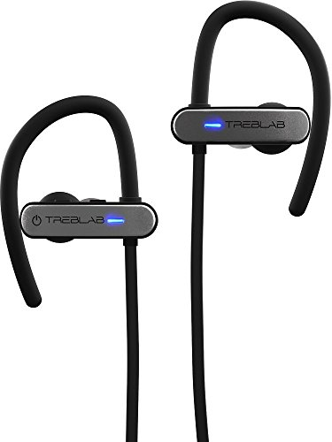 TREBLAB XR800 Bluetooth Headphones, Best Wireless Earbuds For Sports, Running Or Gym Workouts. 2017 Best Model. IPX7 Waterproof, Sweatproof, Secure-Fit. Noise-Cancelling Earphones w/ Mic (Graphite)
