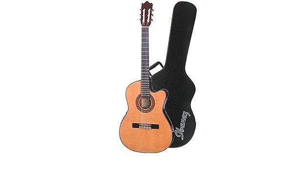 Ibanez GA5TCE-AM – Guitarra clásica Electroacústica en ámbar con Ibanez aeg10 C carcasa rígida para AEG guitarras: Amazon.es: Instrumentos musicales