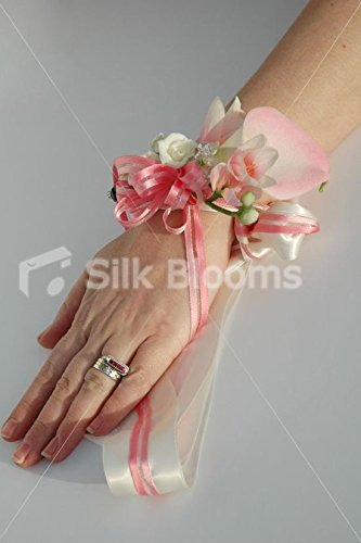 Premium Light Pink Beauty Calla Lily & Freesia Wrist Corsage