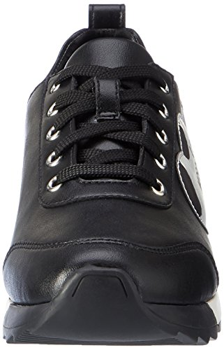Love Moschino W.Sneakers, Mocasines para Mujer Multicolor (Black/nickel)