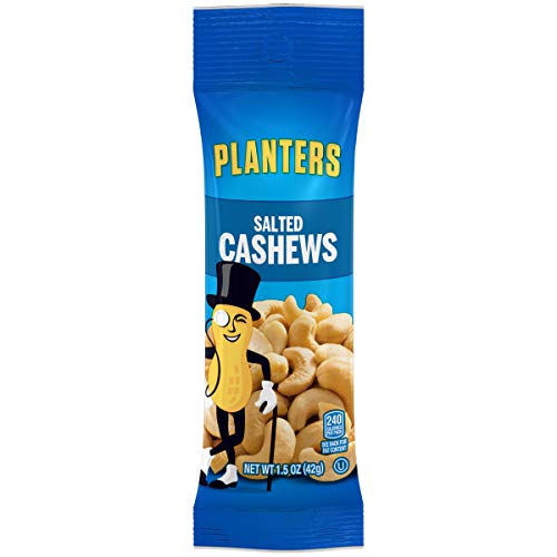 Planters Cashews, Salted, 1.5 Ounce Single Serve Bag (Pack of 18)