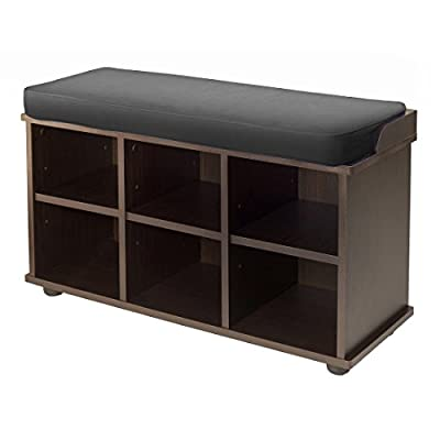 Winsome Townsend Bench, Dark Espresso - Bench and storage in one Storage for shoes Assembly required - entryway-furniture-decor, entryway-laundry-room, benches - 41Sp0gdxiHL. SS400  -