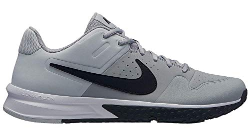 Nike Mens Alpha Huarache Varsity Turf Baseball Cleats (12, Grey/Black)