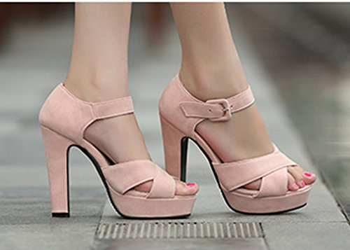 Plateforme Rose Mode Femme Boucle Avec Toe Sandales Aisun Peep qn8xA8g