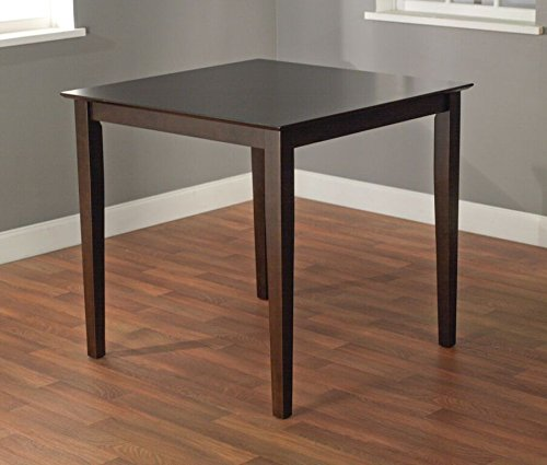 - Target Marketing Systems The Foley Collection Contemporary Style Counter Height Kitchen Dining Table, Espresso