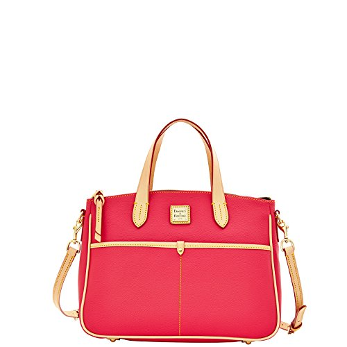 Dooney & Bourke Carley Small Daniela Satchel Hot Pink Coated - Dooney & Bucket Bag Bourke