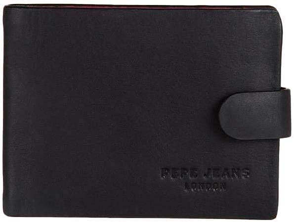 Pepe Jeans Award-winning store 2021 new Colorful Coin Pouch 11 liters Black cm Negro 0.09