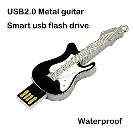 Civetman 64GB Negro Guitarra Eléctrica Pendrive Musical Instruments Crystal USB Flash Drive Memory Stick: Amazon.es: Electrónica