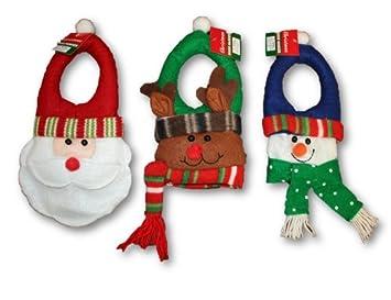 Amazon.com: Padded Felt Christmas Door Hanger Set - Snowman, Santa ...