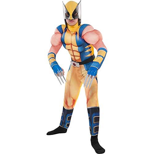 Costumes USA Wolverine Muscle Costume for Boys, Size Small, Includes a Padded Jumpsuit, a Mask and Plastic Claws