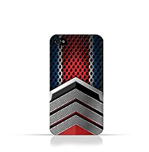Iphone 4 / Iphone 4s TPU Silicone Case With Geometric Mesh Pattern Design